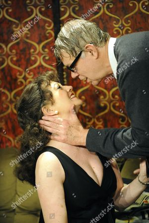 'Who's Afraid of Virginia Woolf'  - Tracey Childs (Martha) and Matthew Kelly (George)