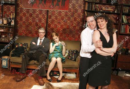 'Who's Afraid of Virginia Woolf'  - Matthew Kelly (George), Louise Kempton (Honey), Mark Farrelly (Nick), Tracey Childs (Martha)