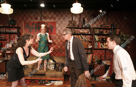 'Who's Afraid of Virginia Woolf'  - l-r: Tracey Childs (Martha), Louise Kempton (Honey), Matthew Kelly (George), Mark Farrelly (Nick)