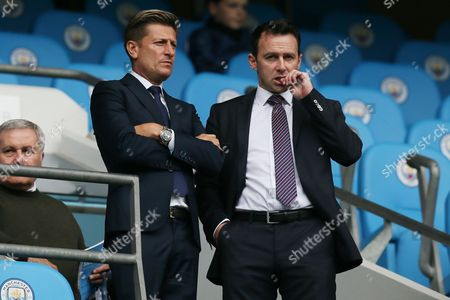 Crystal Palace chairman Steve Parish and Dougie Freedman in the stands