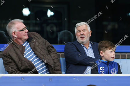 Kai Rooney at Goodison Park with Paul Stretford, agent of Wayne Rooney