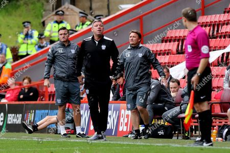 Bury Assistant Manager, Alan Thompson, seemed to be charge in the away dugout due to the absence of Manager, Lee Clark during Charlton Athletic vs Bury, Sky Bet EFL League 1 Football at The Valley on 23rd September 2017