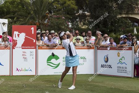 British golf player Georgia Hall competes during the third round of the Andalucia Costa del Sol Spain Open held in San Pedro de Alcantara, Andalusia, Spain, 23 September 2017.