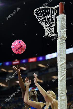 Kadeen Corbin of Team Bath and England during the British Fast5s All-Stars Championship at the O2 Arena, London