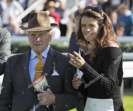 Annabel Croft with former trainer Ian Balding.
