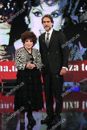 Gina Lollobrigida and Sergio Muniz