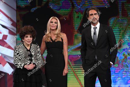 Eleonora Daniele, Gina Lollobrigida and Sergio Muniz