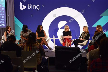 Kate Davis (Senior Editor, Fast Company), Allison Arden (Author, Founder, Soul and Co), Katherine Power (Co-Founder and CEO, Clique Media Group), Susan Lyne (President and Founding Partner, BBG Ventures), Shenan Reed (President, MEC Global), Tiffany R. Warren (SVP and Chief Diversity Officer, Omnicom Group)