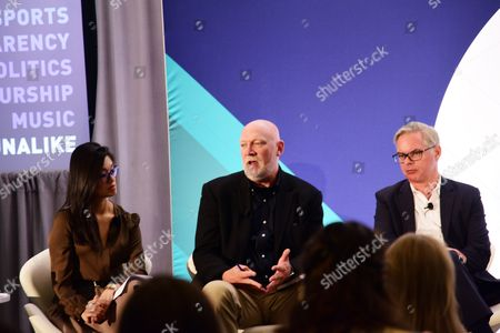Betty Liu (Inc, Anchor and Founder, Radiate), Scott Howe (President and CEO, Acxiom), Chris Macdonald (President, McCann New York)