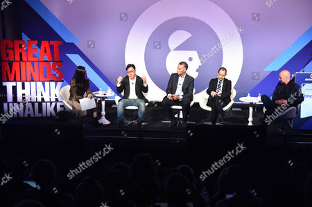 Betty Liu (Inc, Anchor and Founder, Radiate), Steven Chang (Corporate VP, Tencent), Luis Di Como (EVP Global Media, Unilever), Rob Norman (Chief Digital Officer, Group M), Nigel Morris (Chief Strategy and Innovation Officer, Dentsu Aegis Network)