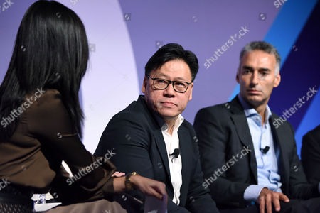 Betty Liu (Inc, Anchor and Founder, Radiate), Steven Chang (Corporate VP, Tencent), Luis Di Como (EVP Global Media, Unilever)