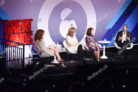 Julia Boorstin (Entertainment and Media Correspondent, CNBC), Arianna Huffington (Founder and CEO of Thrive Global, Thrive Global), Ellyn Shook (Chief Leadership and Human Resources Officer, Accenture), Bill Koenigsberg (President, CEO and Founder Horizon Media)