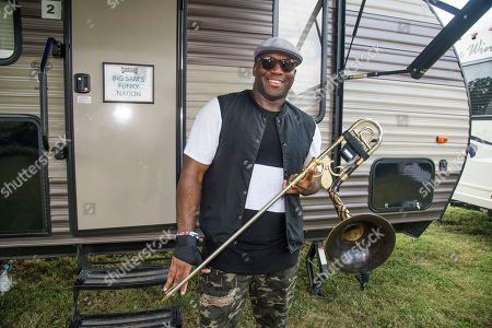 Big Sam poses at the Pilgrimage Music and Cultural Festival, in Franklin, Tenn