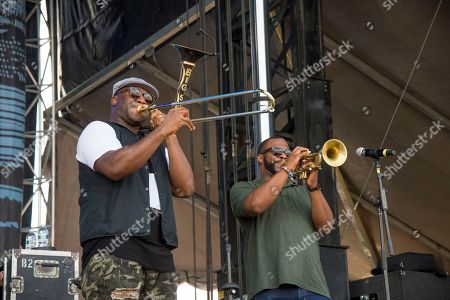 Big Sam performs with Better Than Ezra at the Pilgrimage Music and Cultural Festival, in Franklin, Tenn