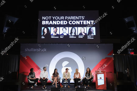 Editorial picture of Not Your Parents' Branded Content seminar, Advertising Week New York 2017, Shutterstock Stage, Liberty Theater, New York, USA - 25 Sep 2017