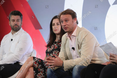 Editorial photo of Not Your Parents' Branded Content seminar, Advertising Week New York 2017, Shutterstock Stage, Liberty Theater, New York, USA - 25 Sep 2017