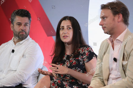 Stock Image of Keith Hernandez (SVP of Brand Strategy and Sales, Bleacher Report), Hallie Johnston (SVP of Client Services and Strategy, Brand Experiences, Refinery), Otto Bell (Chief Creative Officer, Courageous)