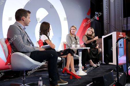 Daniel Landver (CEO, Digital Brand Products), Arielle Charnas (Designer and Lifestyle influencer behind Something Navy, Somethingnavy), Courtney Wartman (SVP of Marketing, Clique Media), Nicolette Mason (Multi-talented Designer, Writer, and Influencer)