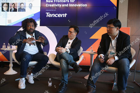 B Bonin Bough (Marketing Mogul and Host, Cleveland Hustles), Steven Chang (Corporate VP, Tencent), Minyi Zhang (Deputy General Manager, Tencent Social Ads, Tencent)