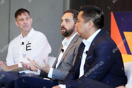 David Bell (Professor of Marketing, Wharton Business School), Eric Eslao (CEO, Defgonce Chocolatier), Cy Scott (CEO, Headset)
