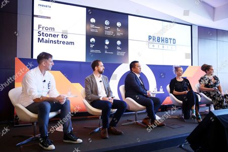 David Bell (Professor of Marketing, Wharton Business School), Eric Eslao (CEO, Defgonce Chocolatier), Cy Scott (CEO, Headset), Chrystal Ortiz (Operations Manager, True Humboldt), Circe Wallace (President and Founder, North County Farms)