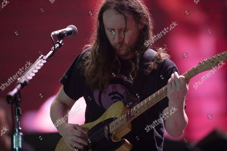 Guitarist Mike Einziger of the band Incubus performs at the Rock in Rio music festival in Rio de Janeiro, Brazil