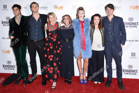 Stock Photo of Thomas Cohen, Wilf Scolding, Alice Eve, Josephine De La Baume, Hermione Corfield and director, Jack Eve