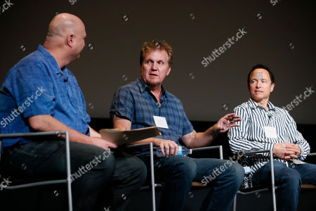 "Shawn Ryan, Kevin Ross, Roger Nygard. From left to right, moderator Shawn Ryan, of ""The Shield"", Kevin Ross, of ""Stranger Things"", and Roger Nygard, of ""Veep"", participate in a panel discussion moderated by Shawn Ryan (""The Shield""), for the annual PRIMECUTS event presented by the Television Academy's Picture Editing Peer Group at the Saban Media Center on in North Hollywood, Calif"