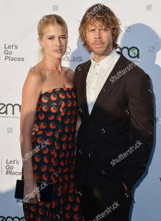 Stock Image of Sarah Wright, Eric Christian Olsen