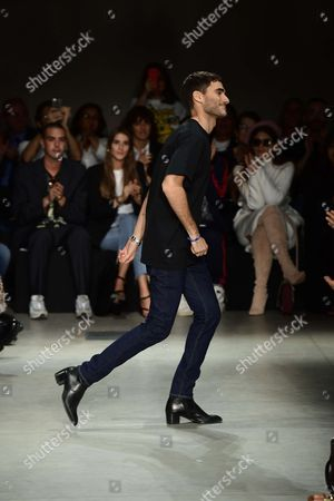 Stock Image of Nicola Brognano on the catwalk