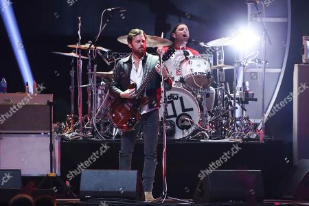 Caleb Followill of the band Kings of Leon performs at the 2017 iHeartRadio Music Festival Day 2 held at T-Mobile Arena, in Las Vegas