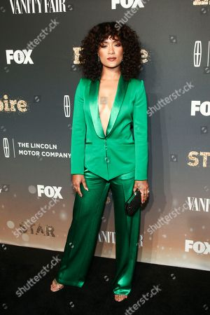 """Grace Byers attends Fox's celebration of the """"Empire"""" and """"Star"""" television shows at One World Observatory, in New York"""