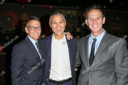 Stock Photo of Michael Lombardo, Ari Emanuel, Peter Berg