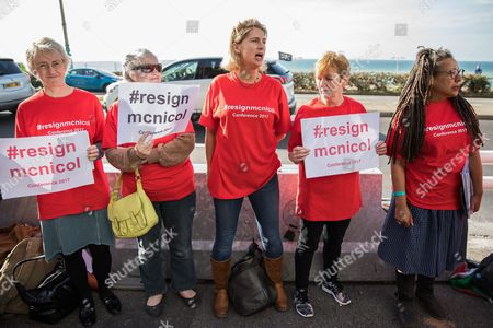 A protest calling for Iain McNicol to resign