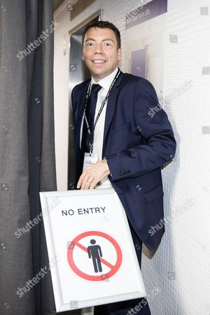 Iain McNicol inside the conference venue