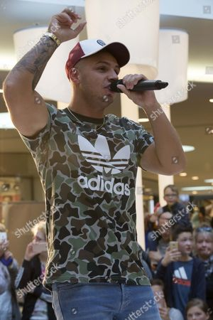 Editorial image of Pietro Lombardi during his performance at Weserpark Shoppingcenter, Bremen, Germany - 23 Sep 2017