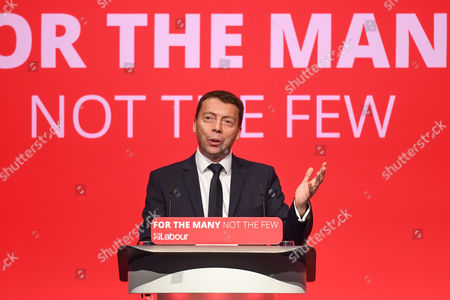 Stock Image of Iain McNicol, General Secretary, speaks on the opening day of the Labour Party Conference