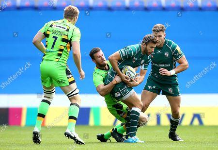 James Marshall of London Irish is tackled