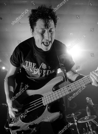 Stock Image of Bassist Jaime Preciado of the band Pierce The Veil performs at the Skyway Theatre in Minneapolis, Minnesota