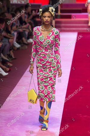 Theresa Hayes on the catwalk