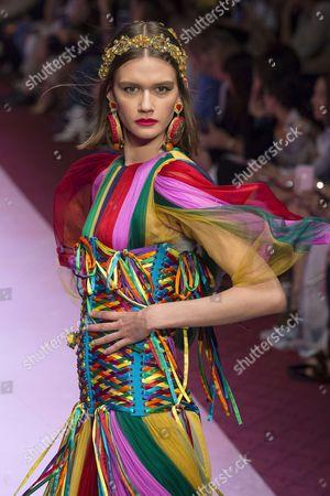 Editorial image of Dolce and Gabbana show, Runway, Spring Summer 2018, Milan Fashion Week, Italy - 24 Sep 2017