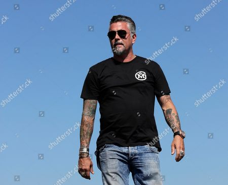 Television personality Richard Rawlings is introduced prior to the NASCAR Cup Series 300 auto race at New Hampshire Motor Speedway in Loudon, N.H