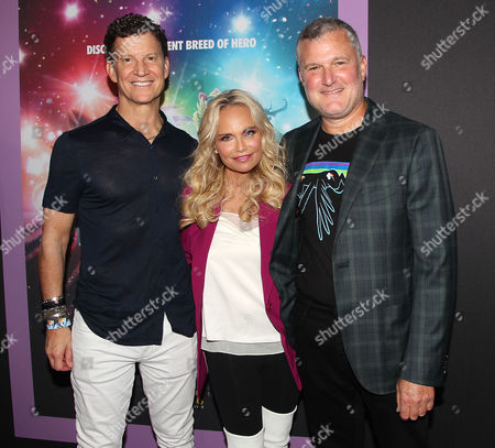 Brian Goldner (CEO; Hasbro), Kristin Chenoweth and Stephen Davis (Producer)