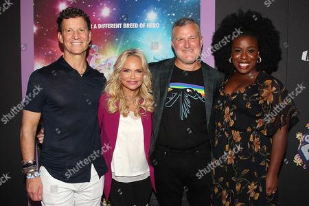 Brian Goldner (CEO; Hasbro), Kristin Chenoweth, Stephen Davis (Producer) and Uzo Aduba