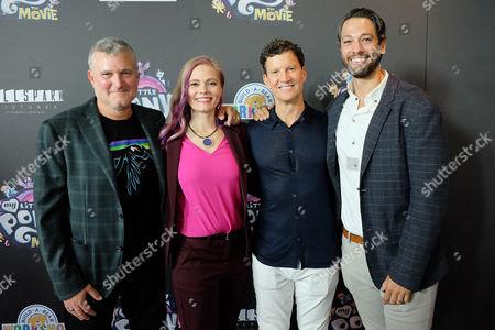 Stock Image of Stephen Davis (Producer), Meghan McCarthy (Writer), Brian Goldner and Josh Feldman
