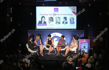 Meredith Long (SVP and GM, News, Luxury and Style Time Inc), Lori Conkling (EVP, Strategy and Business Development, NBCUniversal), Mia Tramz (Managing Editor, LIFE VR), Karna Crawford (Managing Director, Head of Marketing Strategy, Media and Digital Development, JPMorgan Chase Consumer Bank Division), Karen van Bergen (CEO, Omnicom Public Relations Group)