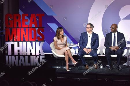 Stock Image of Bethenny Frankel (CEO and Founder, Skinnygirl), Rick Welday (President, ATandT AdWorks), Frank Cooper III (CMO, BlackRock)