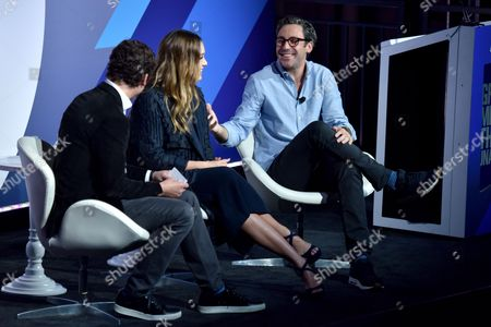 Stock Image of Harry Kargman (Founder and CEO, Kargo), Jessica Alba (Founder, The Honest Company), Neil Blumenthal (Co-Founder and Co-CEO, Warby Parker)
