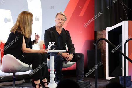 Kim Kelleher (Chief Business Officer, Conde Nast), Marc Mathieu (CMO, Samsung Electronics America)