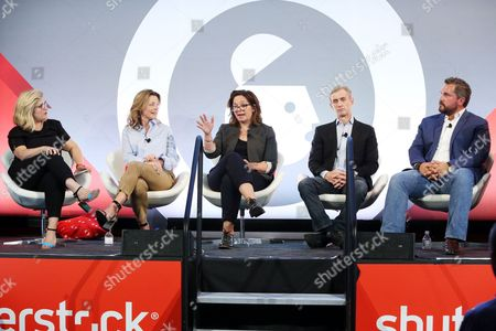 Cody Keenan (President Obama Speechwriter), Dan Abrams (Host, Live PD), Nomi Ernst Leidner (SVP, Development, VICELAND), Lea Goldman (Editor-In-Chief, A and E Networks), Tiffanie Darke (Editor-In-Chief, A and E Networks)